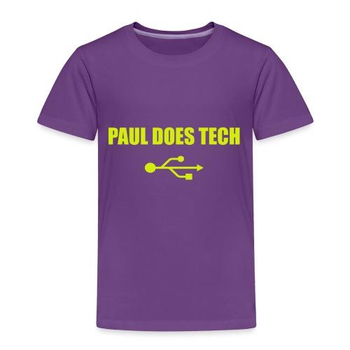 Paul Does Tech Yellow Logo With USB (MERCH) - Toddler Premium T-Shirt