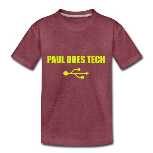 Paul Does Tech Yellow Logo With USB (MERCH) - Toddler Premium T-Shirt
