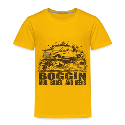 Mud Truck Beer Boggin - Toddler Premium T-Shirt