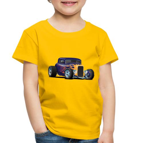 Vintage Hot Rod Car with Classic Flames - Toddler Premium T-Shirt