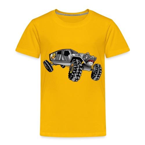 Rock Crawling Monster Truck Silver - Toddler Premium T-Shirt