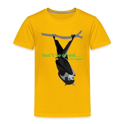 Don t be afraid I'm vegan - Toddler Premium T-Shirt