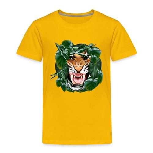 Tiger thru the leaves - Toddler Premium T-Shirt