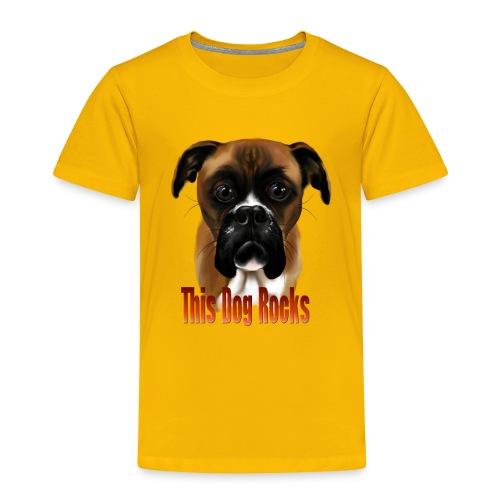 This Dog Rocks - Toddler Premium T-Shirt
