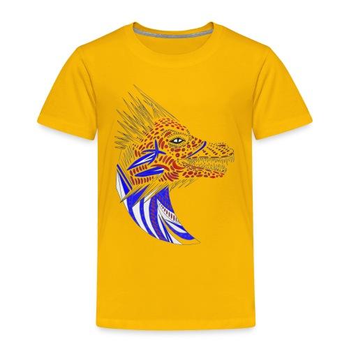 Blue dragon head - Toddler Premium T-Shirt