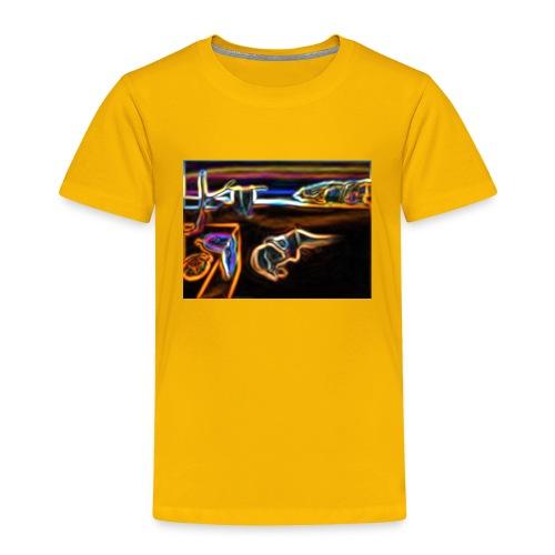 Melted Neon Dali - Toddler Premium T-Shirt