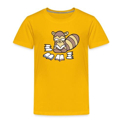 Reading Raccoon - Toddler Premium T-Shirt