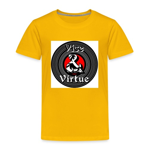 Vice and Virtue White Background No Info Circle - Toddler Premium T-Shirt