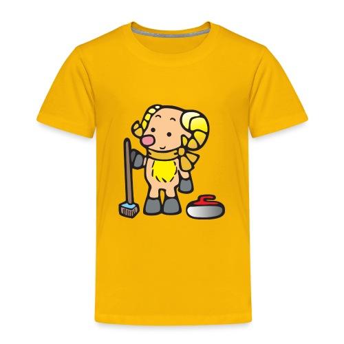 Bighorn Sheep Curling - Toddler Premium T-Shirt