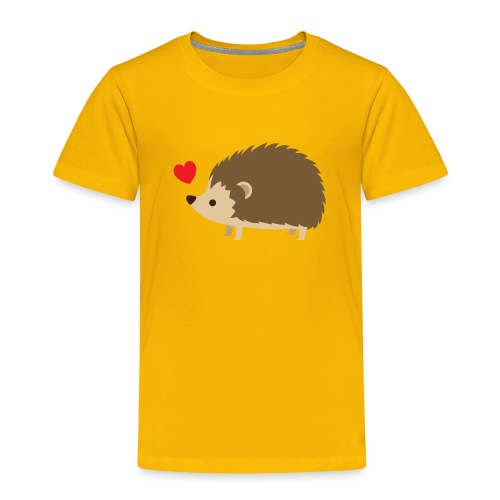 Hedgehog with Heart - Toddler Premium T-Shirt