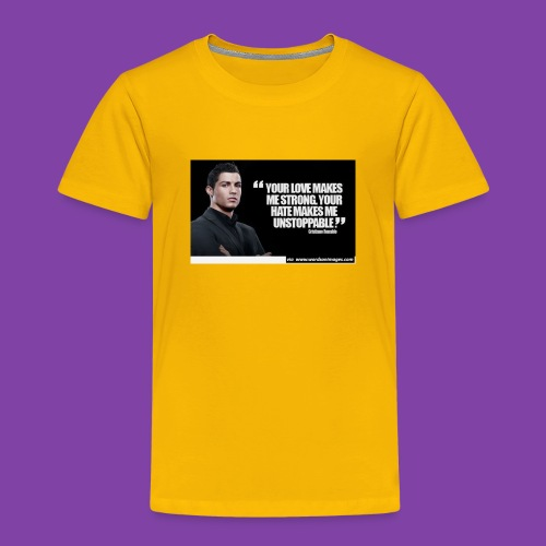 255777-Cristiano-ronaldo------quote-w - Toddler Premium T-Shirt