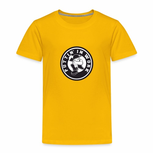 Solid Puttin' In Work Logo - Toddler Premium T-Shirt