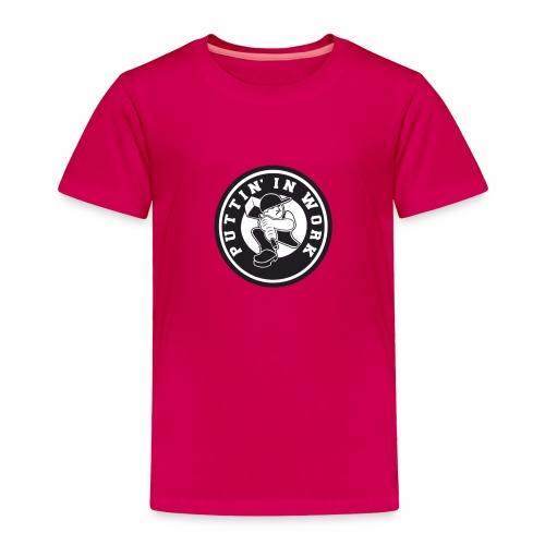Solid Puttin' In Work Logo - Toddler Premium T-Shirt