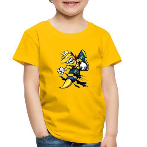 Cartoon Blue Angels F/A-18 Hornet - Toddler Premium T-Shirt