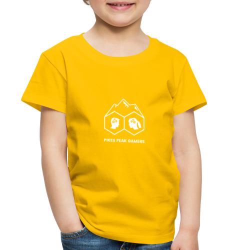 Pikes Peak Gamers Logo (Transparent White) - Toddler Premium T-Shirt