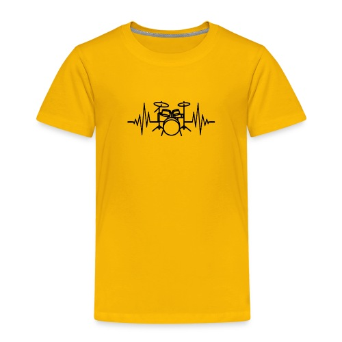 Drums Heartbeat Funny drummer - Toddler Premium T-Shirt