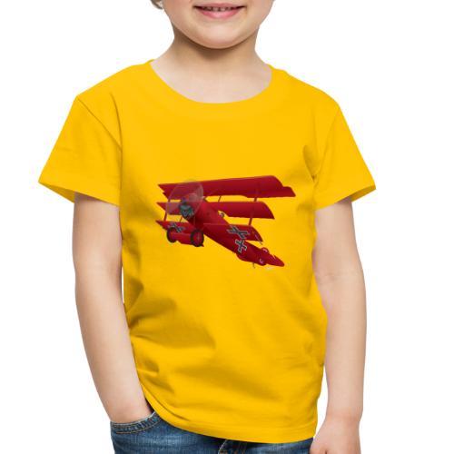 DR-1 Red Baron Triplane WWI Warbird - Toddler Premium T-Shirt