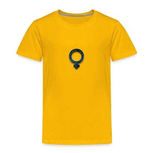 blue retro rusted grunge icon symbols shape - Toddler Premium T-Shirt