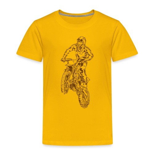 Motocross Dirt Bike Jump - Toddler Premium T-Shirt