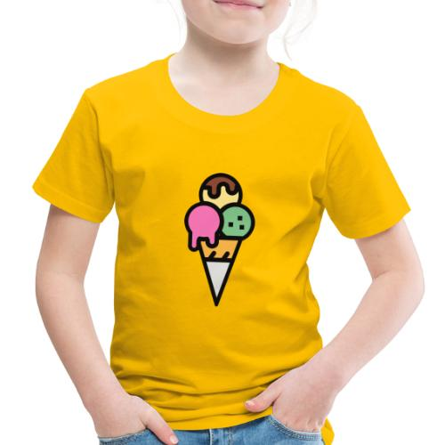 Triple Scoop Cone - Toddler Premium T-Shirt