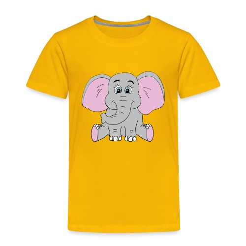 Cute Baby Elephant - Toddler Premium T-Shirt