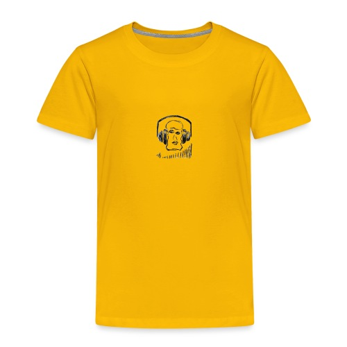 music head headphones sketch - Toddler Premium T-Shirt
