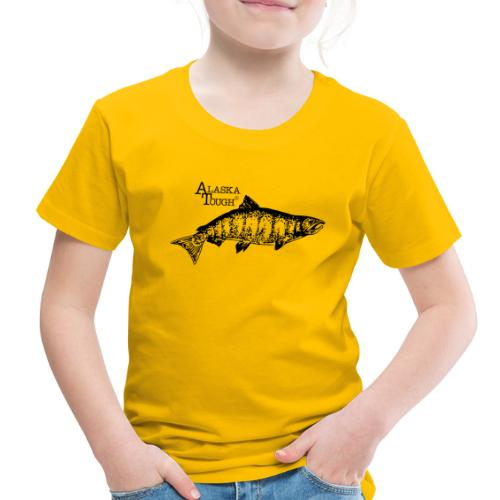Alaska Tough Black Salmom - Toddler Premium T-Shirt
