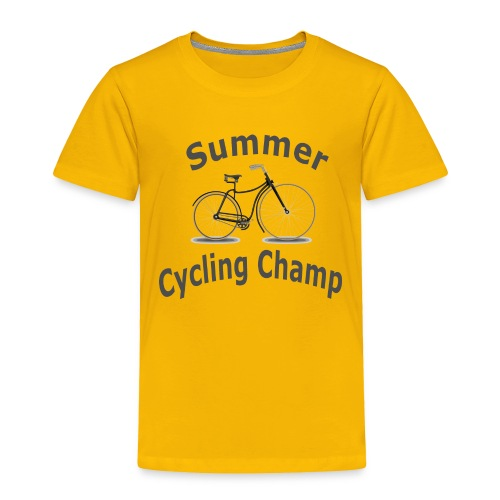 Summer Cycling Champ - Toddler Premium T-Shirt
