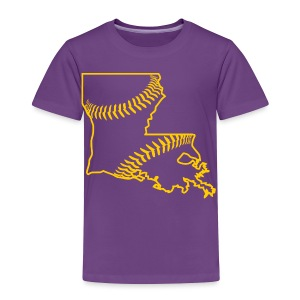 Louisiana Baseball, Gold - Toddler Premium T-Shirt