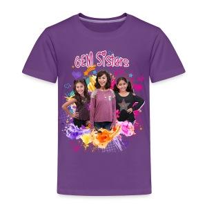 GEM Sisters Color Splash (Bright) - Toddler Premium T-Shirt