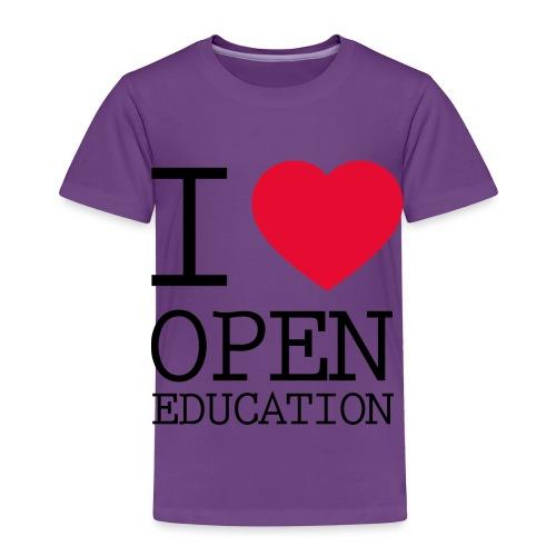 I Love Open Education - Toddler Premium T-Shirt