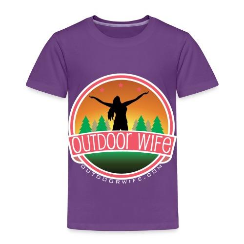 outdoorwifelogowhite 01 01 - Toddler Premium T-Shirt