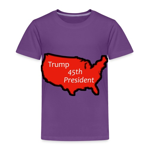 Trump 45th President (Bold Red USA) - Toddler Premium T-Shirt