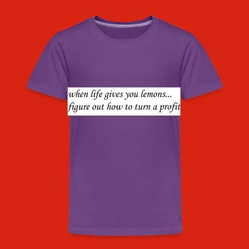 when life gives business man lemons - Toddler Premium T-Shirt