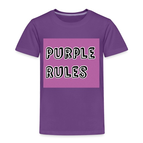 Girls Purple Rules Shirt - Toddler Premium T-Shirt