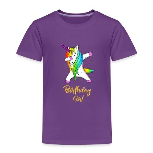 unicorn birthday girl - Toddler Premium T-Shirt