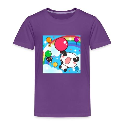 Rainbow with a panda - Toddler Premium T-Shirt