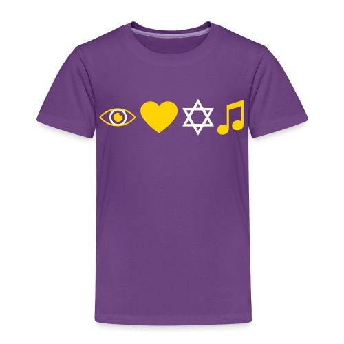 I Love Jewish Music - Toddler Premium T-Shirt