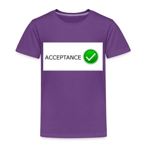 accpetnace_logo - Toddler Premium T-Shirt