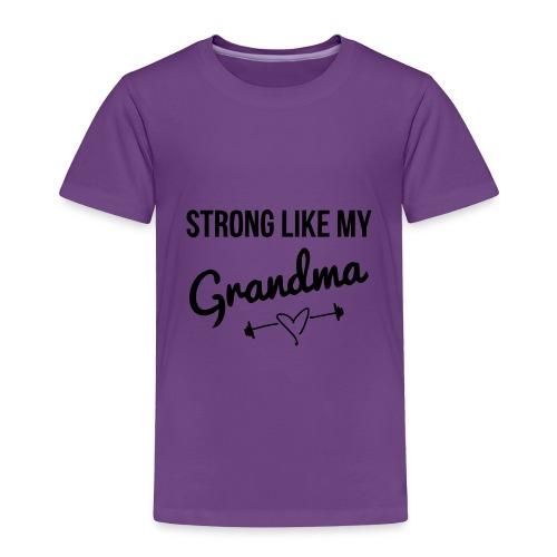 strong like my grandma (black) - Toddler Premium T-Shirt