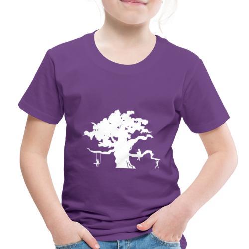 Oak Tree with children playing - Toddler Premium T-Shirt