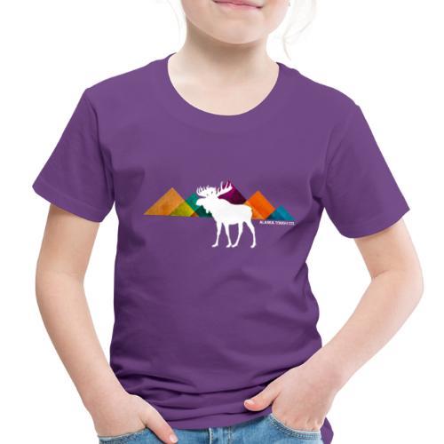 Moose and Mountains Design - Toddler Premium T-Shirt