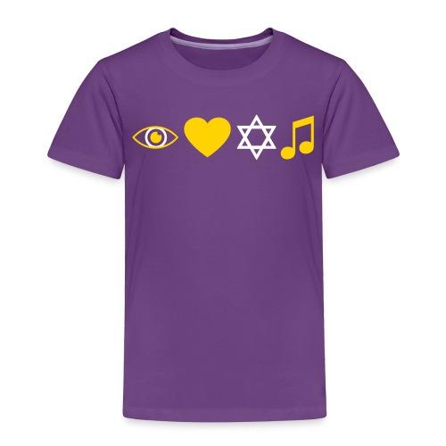 I Love Jewish Music - Toddler Premium T-Shirt