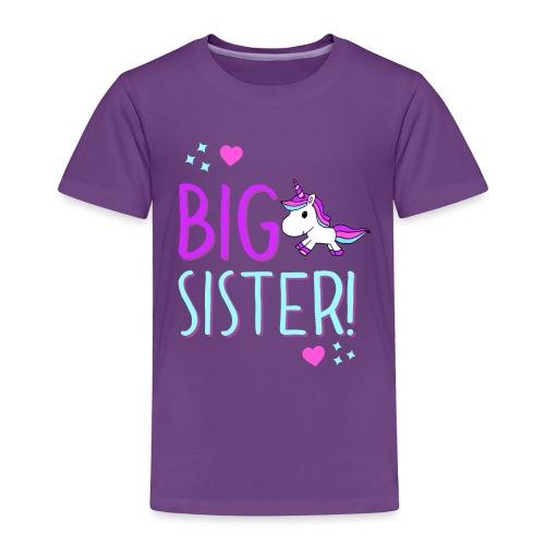 Big Sister Unicorn Design! - Toddler Premium T-Shirt