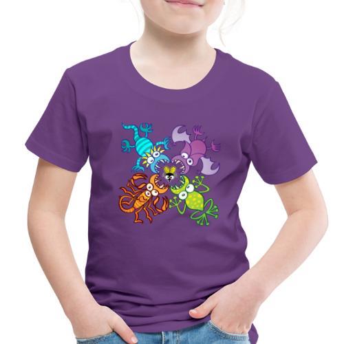Bat, lizard, scorpion and frog stalking a poor fly - Toddler Premium T-Shirt