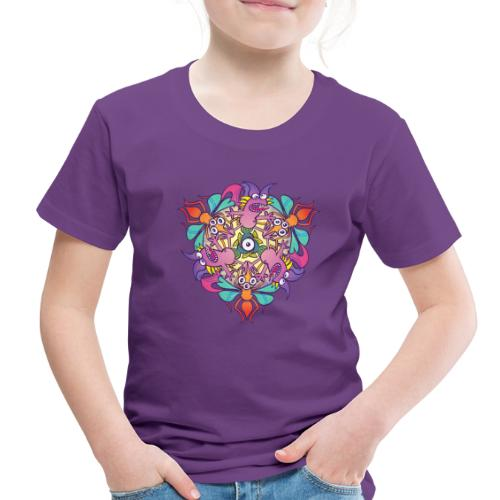 Mosquitoes, bats and fishes in doodle art style - Toddler Premium T-Shirt