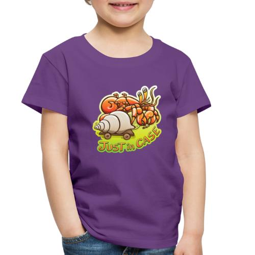 Hermit crab goes out but takes shell, just in case - Toddler Premium T-Shirt