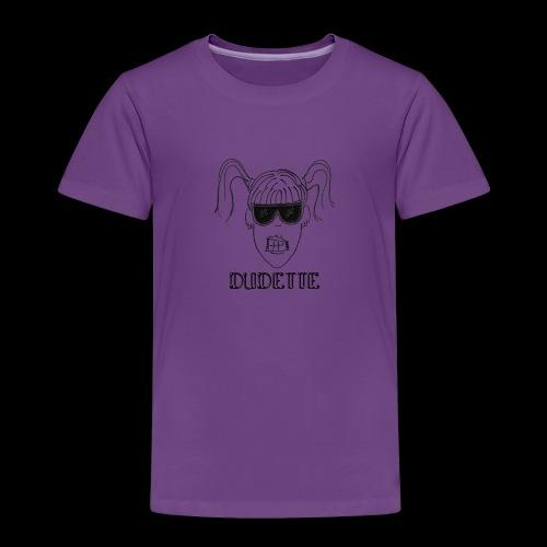 Dudette Head 1 - Toddler Premium T-Shirt