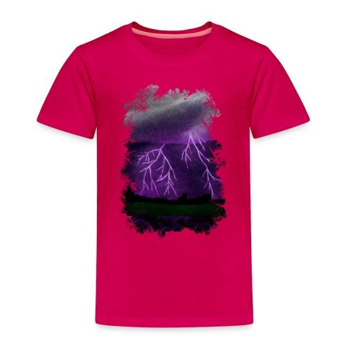 Purple Lightning Scene - Toddler Premium T-Shirt