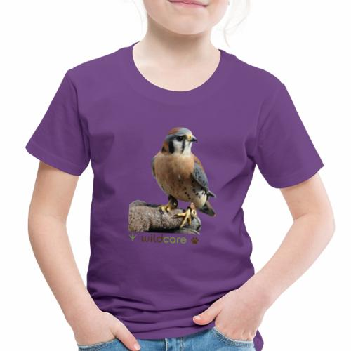 WildCare's non-releasable ambassador Kestrel Kele - Toddler Premium T-Shirt